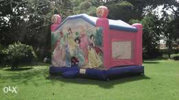 Themed bouncing castle and trampolines for hire.