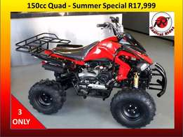 New Quads 150cc Auto with Reverse. *Holiday Special*