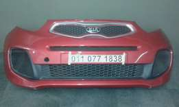 Kia Picanto Front Bumper with centre and bottom grilles for Sale