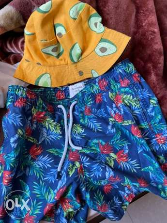 Summer/beach Abercrombie & Fitch swimming shorts with hat Negotiable