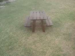 Kiddie's picnic benches