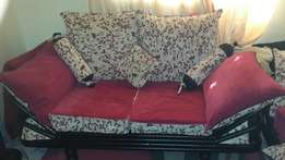 metal frame with high density cushions