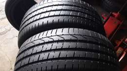 A set of 225/35/19 second hand tyres