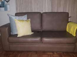 Newly Refurbished Leather Pull Out Bed Couch