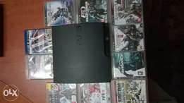 playstation 3 slim 320gb and 10 games