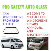 Mini bus Windscreens from R800 fitted