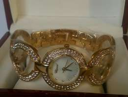 Chopard female watches,with a golden bracelet at 4500kshs.
