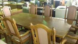 10 Piece Bukwa wood dining room suite