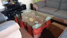 Puff glass tables