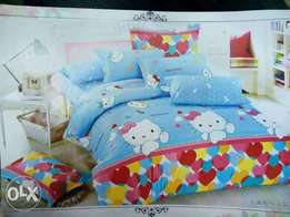 With matching bedsheet and pillow cases/free delivers