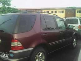M Benz ML320 less than one year 2002