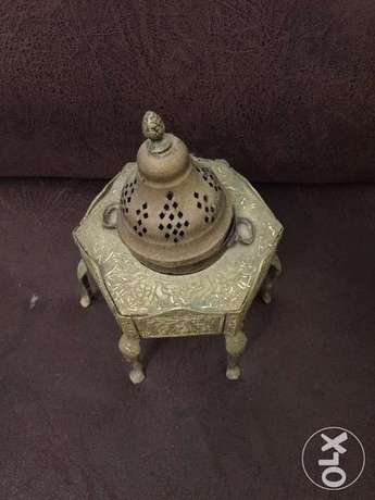 مبخرة تراثية نحاس قديم Old brass incense burner heritage أشرفية -  2