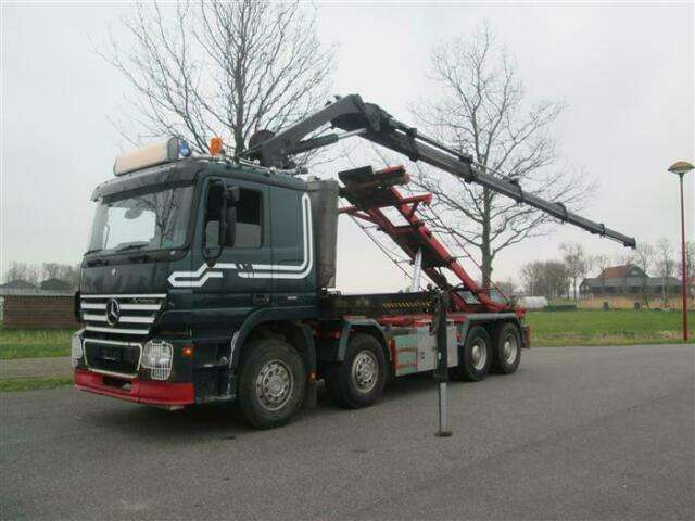 Mercedes-Benz Actros 3248 8x4 With Crane/kran Hiab Xs244 Euro - 2008