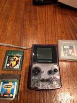 Game boy with 3 games