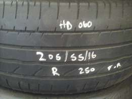 205/55/16 Second hand and Super second hand tyres