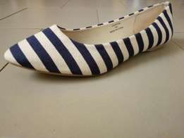 Striped Suede Tass Shoes