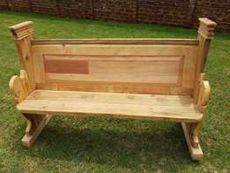 Retro re Purposed Bench J 2494