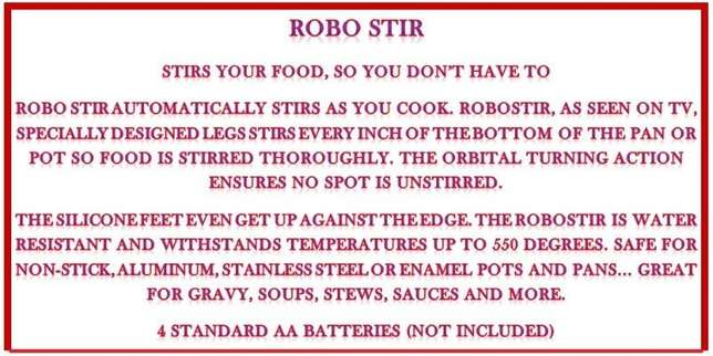 Robo Stir - Stirs So You Don't Have To Sunridge Park - image 5