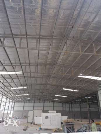 For rent warehouse store basement land and workers housing مخازن