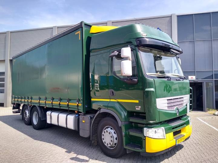 Renault Premium 410 6X2 EL / Curtainside / Loadlift / Lift-axle - 2008