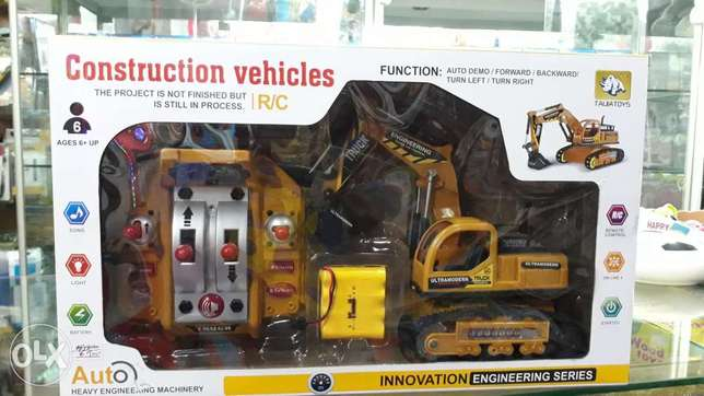 construction vahicles with remote control