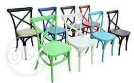 Resin cross chair, variant color