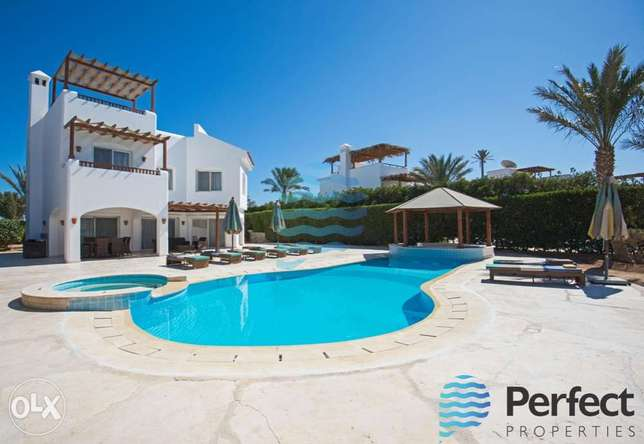 Luxury White Villa in for Rent in El Gouna with Heated Private Pool