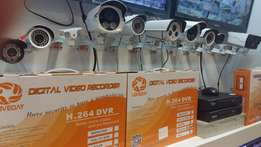 Fully fitted x4 cctv camera's