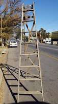 Large Wooden Ladder J 1344