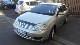 Toyota Corolla 1.4i GLS 2007 model gold in color 83000km R70000