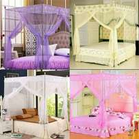 Straight Mosquito net with metallic stands