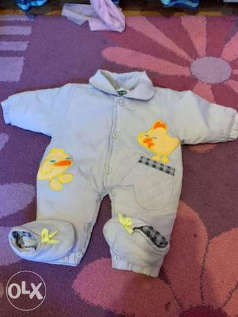 New 3 pieces winter overall set 0-3 months