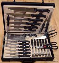 24-Piece Professional Chef Khife Set Steak Knives Carving Boning