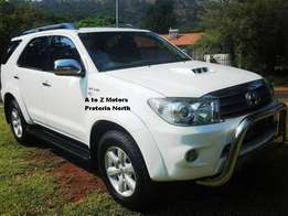 2009 Toyota 3.0 Fortuner D4D 4x4 SUV with the following km's 194574