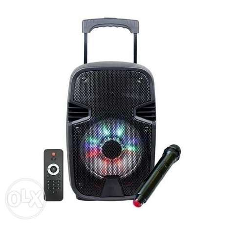 "Trolly Karaoke multimedia Speakers 8"" with wireless microphone شويفات -  3"