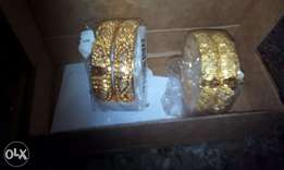 Nilanjan Arts 22k Real Gold plated handmade bangles