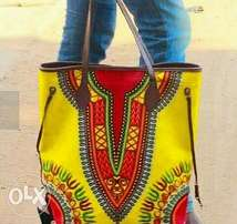 African touch hand bags
