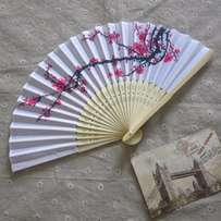 10-Pcs-Polyester Folding HandFan (Clearance Sales)