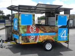 New Fast Food Trailers for Sale + FREE Solar System for only R36 490