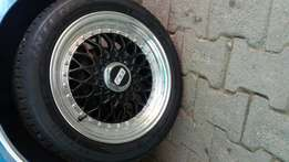 15 inch BBS step dish rims with Tyers