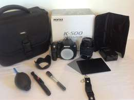 PENTAX K500 with 18-55mm lens, for sale