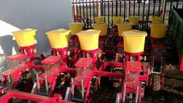 New 4 row planters with bean, sorghum and maize plates