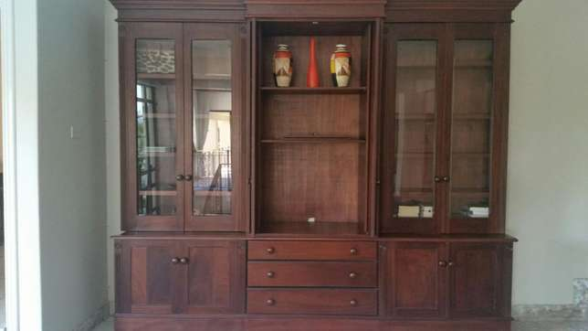 Solid Rosewood Wall unit 2 piece Richards Bay - image 2