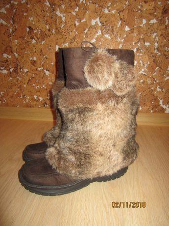 Чоботи зимові (сапоги) з хутром р.37  450 грн. - Женская обувь Львов ... 92c4f32307a5e