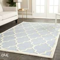 Blue and ivory rug