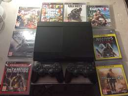 500 Gb PS3 + 2 controllers+ 11 Games + 1 Demo + HDMI