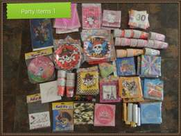 Various Party Items for Sale