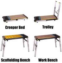 4-in-1 Work Bench/Scaffolding/Creeper/Dolly Hand Truck