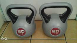 Kettle Bell Weights 20kg x 2.