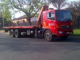 12 Ton roll back truck with crane to hire